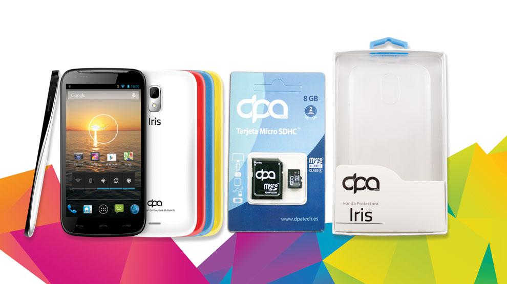 Pack Smartphone DPA Iris + funda + Micro SD por 149.90€