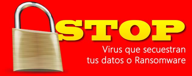Virus secuestro de datos o Ransomware