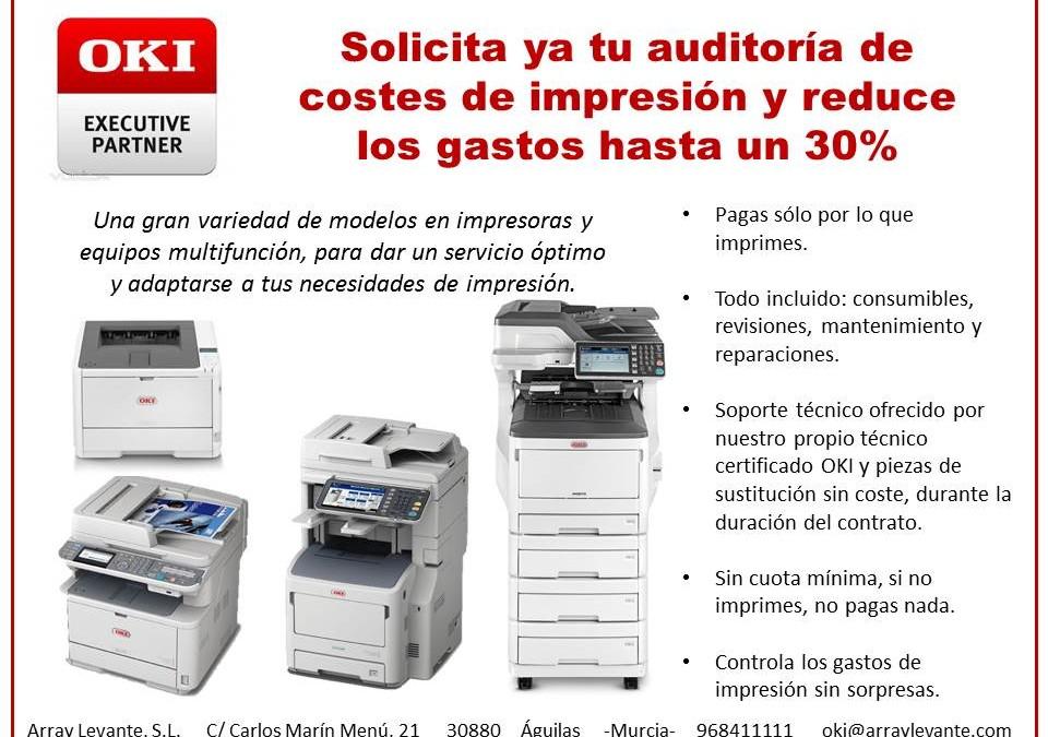 Reduce tus gastos de impresión hasta un 30%