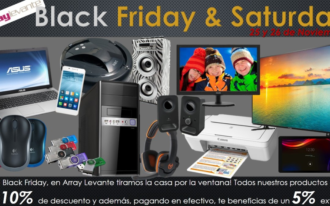 Aprovecha nuestro Black Friday & Saturday