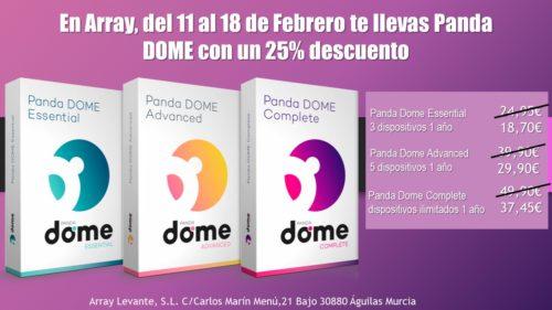 Del 11 al 18 de Febrero en Array tenemos Panda Dome con un 25% de descuento