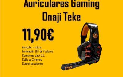 Auriculares gaming ONAJI Teke 11,90€