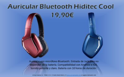 Auricular Bluetooth Hiditec Cool
