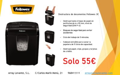Destructora Fellowes 3C