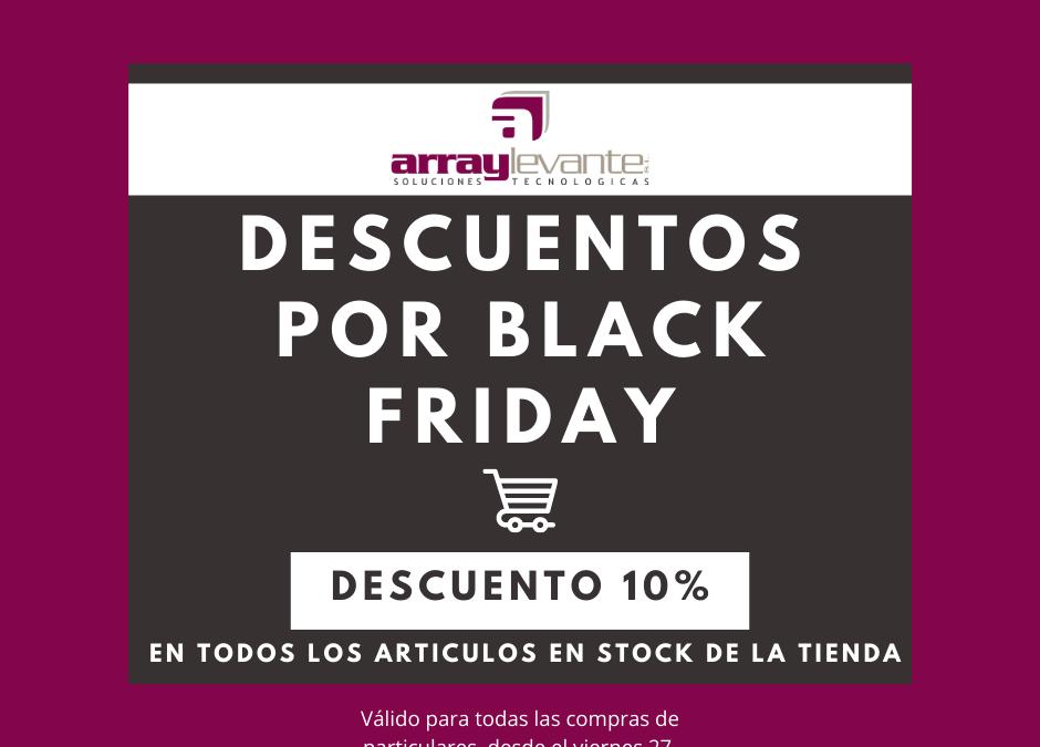 Aprovecha el Black Friday, todo el stock de la tienda con un 10% de descuento!